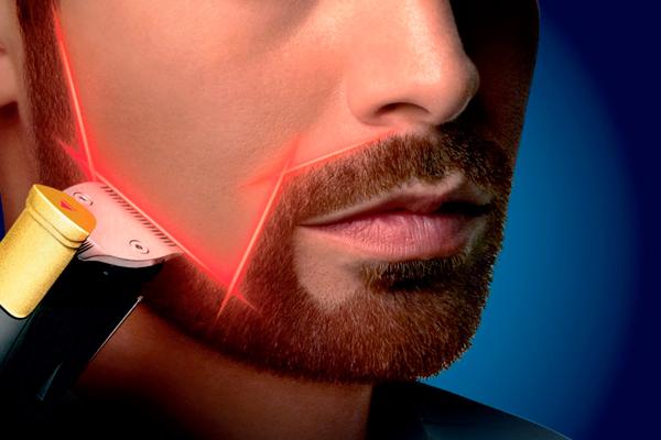 guía laser en cortadoras de barbas